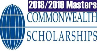 Commonwealth Master's Scholarships 2019