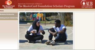 Mastercard Foundation Scholars Program at AUB, 2021-2022 (Fully-Funded)