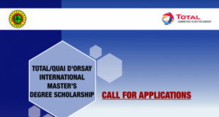 TOTAL/French Embassy International Scholarship 2019 /2020 For Nigerian Students