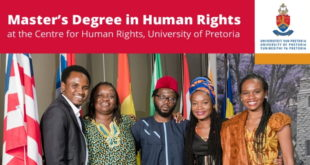 MSc Scholarships 2019/2020 at University of Pretoria in Africa