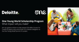 Deloitte Partnered Scholarships for One Young World Summit 2019/2020