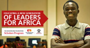 2019 MasterCard Foundation - Ashesi University College Scholarships