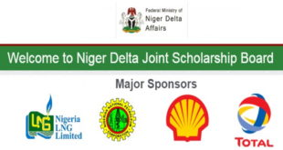 Application Opens for the Niger Delta Joint Scholarship Award Scheme 2019/2020
