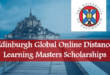 Apply for University Of Edinburgh Global Online Distance Learning MSc Scholarships in UK