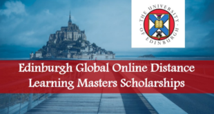 Apply for University Of Edinburgh Global Online Distance Learning MSc Scholarships in UK
