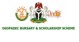 OSOPADEC 2019/2020 Bursary and Scholarship Awards for Undergraduate Students - Ongoing