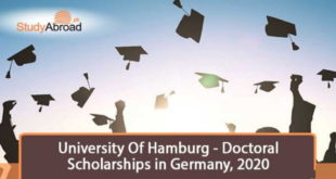 Doctoral Scholarships 2020 at University Of Hamburg in Germany - Ongoing