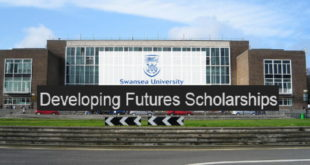 2019 Swansea University Futures Leaders Development Scholarships in UK