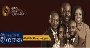 Fully Funded AIG Scholarship Program 2020-2021 for African Students.