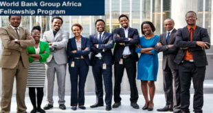 World Bank Group (WBG) 2020 Postgraduate Fellowship Program for Young Africans