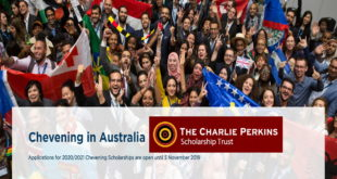 Australia Chevening Scholarships 2020-2021 (Through Charlie Perkins Scholarship Trust)
