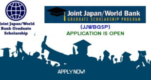 Government of Japan-World Bank Graduate Scholarship Program 2020 for Students of Developing Nations