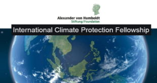 International Climate Protection Fellowship in Germany 2020 (Alexander von Humboldt Foundation Funding)