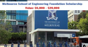 Melbourne Engineering Foundation International Scholarship Awards 2020-2021(Masters Awards in Australia)