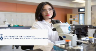 University of Toronto International Excellence Science and Engineering Award 2020
