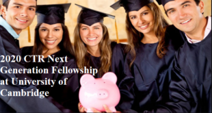 2020 CTR Next Generation Fellowship at University of Cambridge