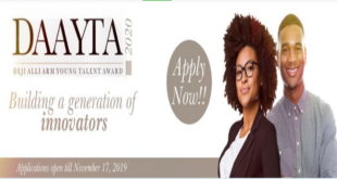 Call for Application- Deji Alli Arm Young Talent Award 2020 for Young Nigerian Graduates and Undergraduates (N12 million Funding)