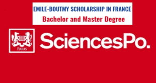 Fully Funded Emile Boutmy (Sciences Po) Scholarships 2020-2021 to Study in France