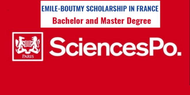 Fully Funded Emile Boutmy (Sciences Po) Scholarships 2020 ...