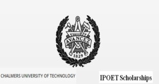 IPOET Scholarships Awards 2020/2021 at Chalmers University of Technology, Sweden