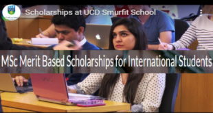 International Students Scholarships 2020 for Masters Studies at UCD, Ireland