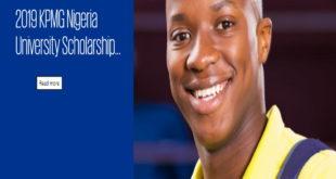 KPMG Nigeria University Scholarship Program 2019 for Secondary School Graduates