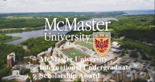 McMaster University International Undergraduate Scholarship Award