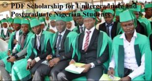 PDF Scholarship for Undergraduate and Postgraduate Nigerian Students