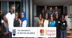 UBC Mastercard Foundation Scholars Program to Study in Canada 2020-2021