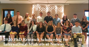 2020 PhD Research Scholarship for International Students at Norway