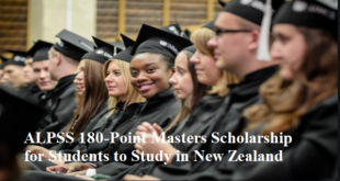 ALPSS 180-Point Masters Scholarship for Students to Study in New Zealand