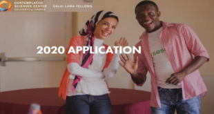 Dalai Lama Fellows Program 2020 Young Global Leaders at University of Virginia, USA