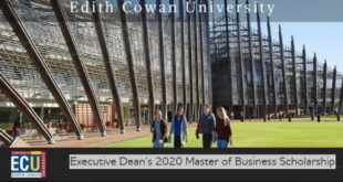 Edith Cowan University Executive Dean's MBA Scholarship 2020 to Study in Australia