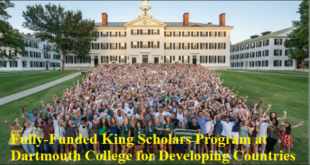 Fully-Funded King Scholars Program at Dartmouth College for Developing Countries