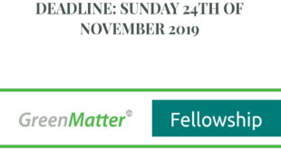 GreenMatter Postgraduate Fellowship and Awards 2020 to Study in South Africa