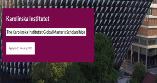 Karolinska Institutet Global Excellence Scholarships 2020 (Tuition Award to Study in Sweden)