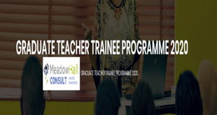 Meadow Hall Graduate Trainee Programme 2020 for Young Graduates