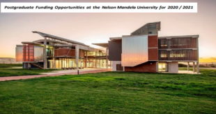Postgraduate Scholarship Award Programmes 2020-2021 at Nelson Mandela University, South Africa