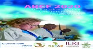 2020 Africa Biosciences Challenge Fund fellowships for Researchers