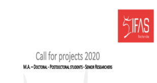 IFAS-Research Funding 2020 for M.A. – Doctoral - Postdoctoral Students - Senior Researchers
