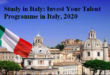 Invest Your Talent Programme in Italy