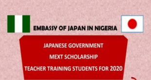 Japanese Government (Mext) Scholarship 2020