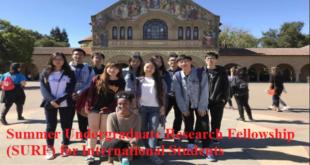 Summer Undergraduate Research Fellowship (SURF) for International Students