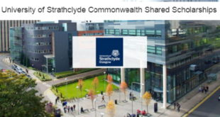 University of Strathclyde Commonwealth Shared Masters Scholarships in UK 2020