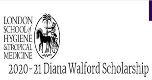 Diana Walford Msc Scholarship 2020-21 at LSHTM, London