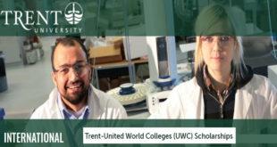 Trent University-United World Colleges (UWC) Scholarships - University of Trent-United World Colleges (UWC) Scholarships Awards in Canada