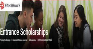 2020 International African Academic Excellence Entrance Award at Fanshawe College, Canada