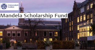 2020 Mandela Scholarship Fund for South Africans at Leiden University, Netherlands