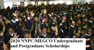 2020 NNPC/MEGCO Undergraduate and Postgraduate Scholarships