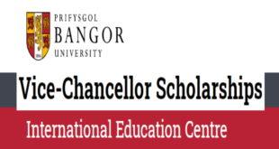 Bangor University Vice-Chancellor Scholarships for International Students, 2020